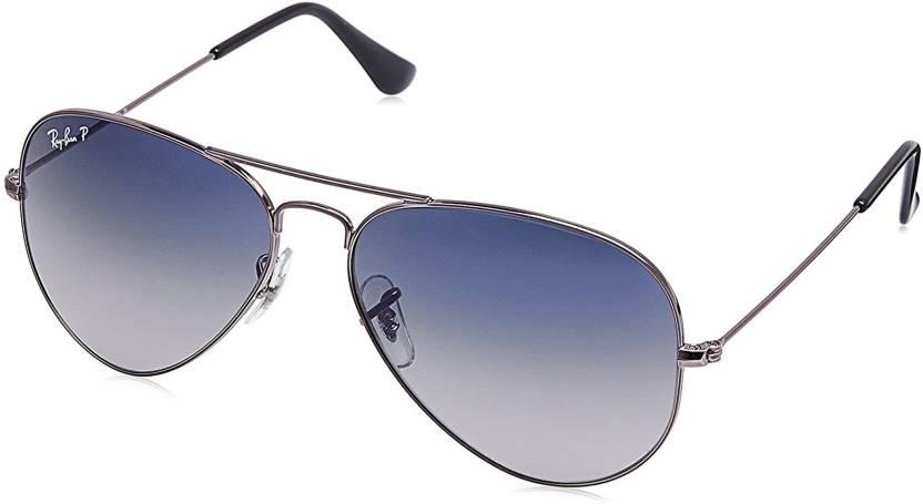 d488d00560 Buy Ray-Ban Aviator Sunglasses Violet For Men   Women Online   Best ...