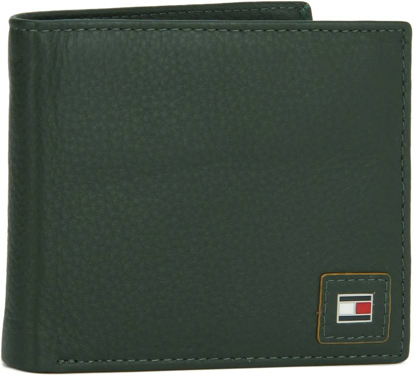 7c0af3ce1 Tommy Hilfiger Men Green Genuine Leather Wallet OLIVE+YLW - Price in ...
