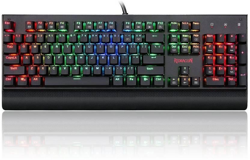 3fc260e7b99 Redragon Kala K557 Mechanical Gaming Keyboard Wired USB Multi-device  Keyboard (Black)