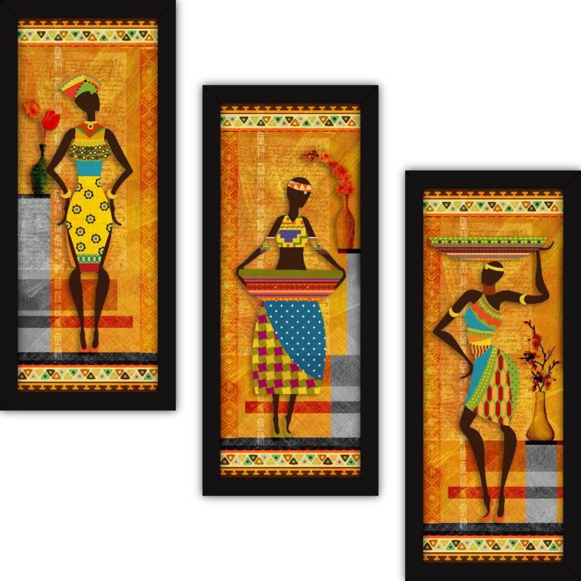 Fatmug Wall Paintings For Living Room With Frame Tribal