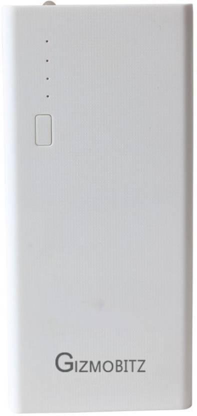 Gizmobitz 20000 Power Bank White, Lithium ion
