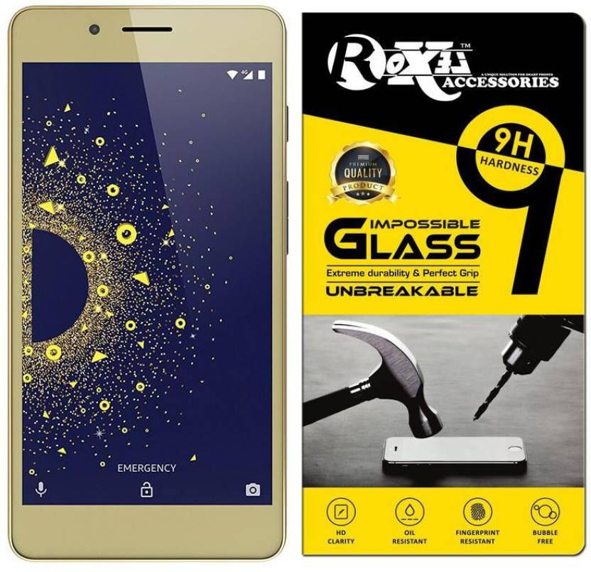 Roxel Impossible Screen Guard for 10 or D (Aim Gold, 3 GB) - Roxel