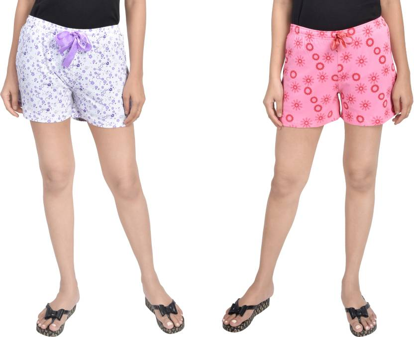 7c3dcfa9e089 A9 Printed Women White, Pink Night Shorts - Buy A9 Printed Women White, Pink  Night Shorts Online at Best Prices in India | Flipkart.com