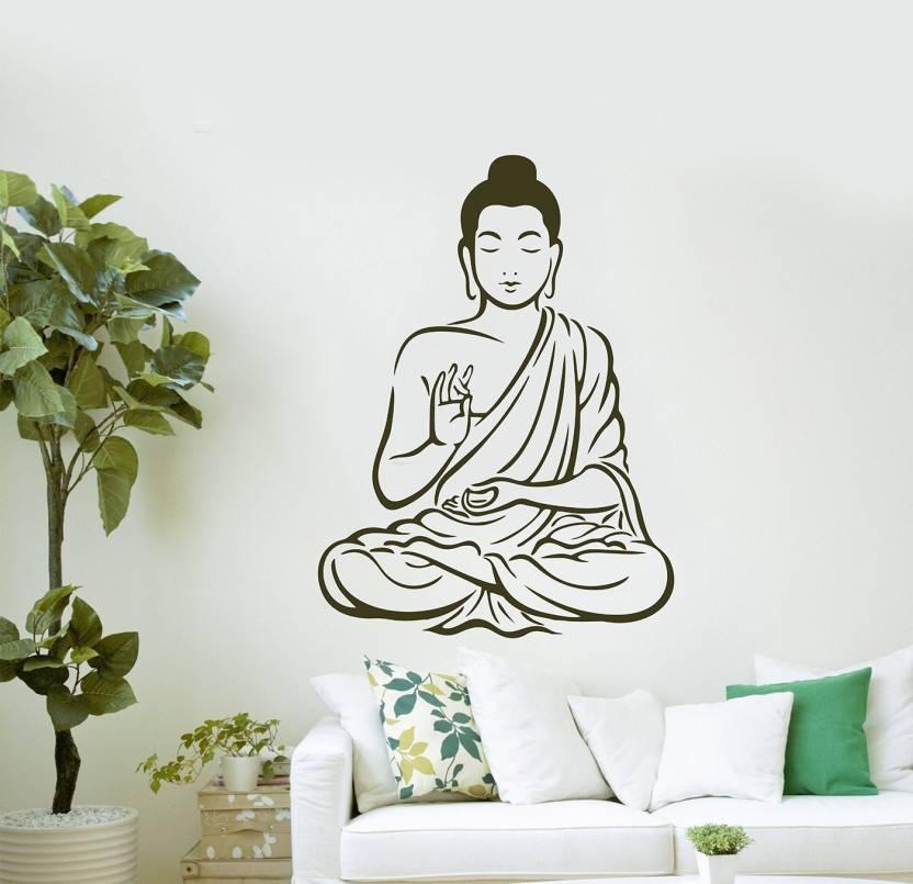 "flipkart smartbuy large ""buddha"" digital printed pvc vinyl sticker"