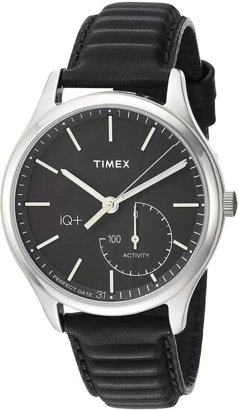 71dbd50ccb6e Timex Black 11635 Timex Men s TW2P93200 IQ+ Move Activity Tracker Black  Leather Strap Smart Watch Watch - For Men - Buy Timex Black 11635 Timex  Men s ...