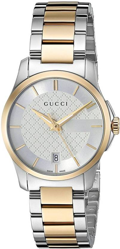 70dbd571cfe GUCCI Silver10159 Gucci Swiss Quartz Stainless Steel Dress Two-Tone Women s  Watch(Model
