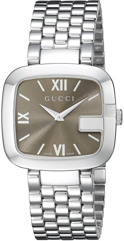 350af811eb5 GUCCI Brown10141 Gucci G-Gucci Stainless Steel Women s Watch(Model YA125410)  Watch