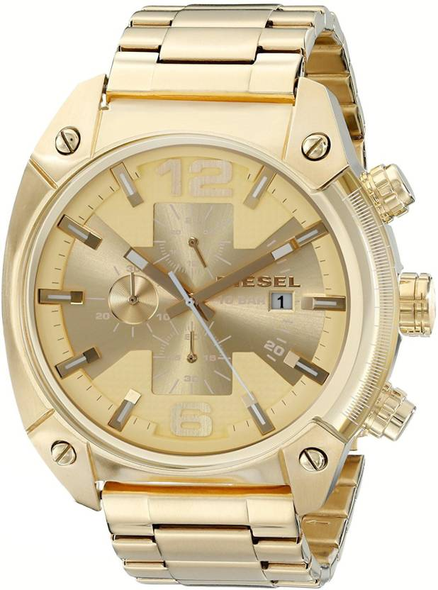 05e62f2129 Diesel gold7879 Diesel Men's DZ4299 Overflow Gold-Tone Stainless Steel Watch  Watch - For Men - Buy Diesel gold7879 Diesel Men's DZ4299 Overflow Gold-Tone  ...