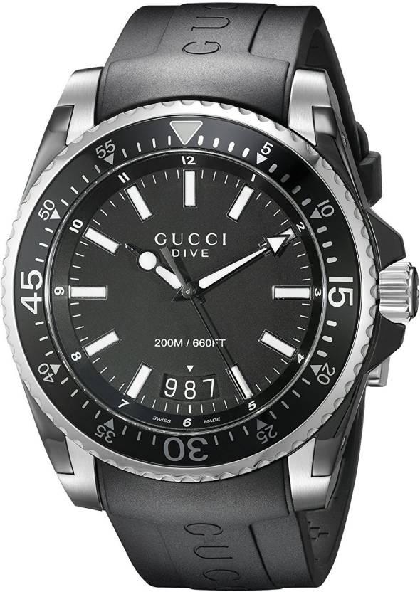 fa8ae33e0a0 GUCCI black8554 Gucci Gucci Dive Analog-Display Swiss Quartz Black Men s  Watch(Model YA136204) Watch - For Men - Buy GUCCI black8554 Gucci Gucci Dive  ...