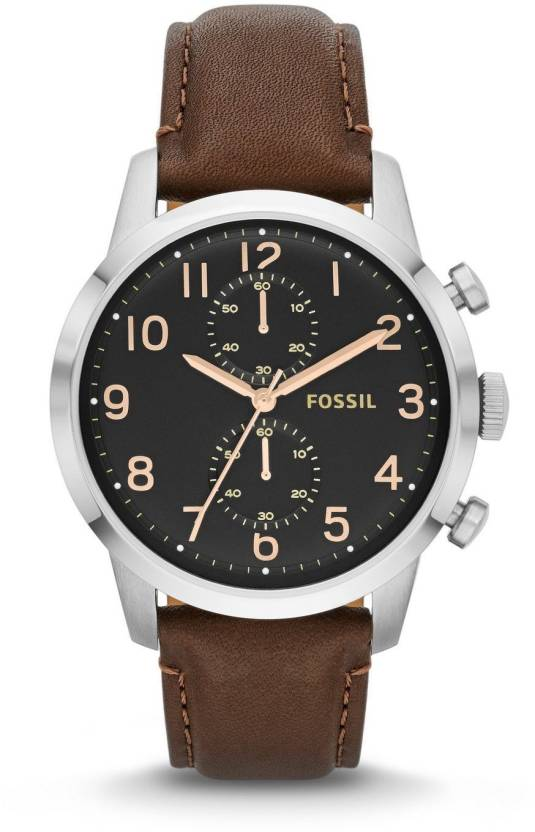 664e3c95710 Fossil Black5080 Fossil Men s FS4873 Townsman Stainless Steel Watch With  Brown Leather Band Watch - For Men - Buy Fossil Black5080 Fossil Men s  FS4873 ...