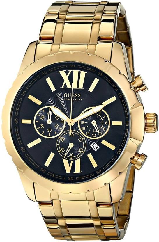 d93eeaffd43 Guess Black 11398 GUESS Men s Stainless Steel Casual Bracelet Watch ...