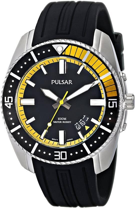 Pulsar Black 3400 Pulsar Men s PS9323 Analog Display Japanese Quartz Black  Watch Watch - For Men - Buy Pulsar Black 3400 Pulsar Men s PS9323 Analog  Display ... ea52f5d9039