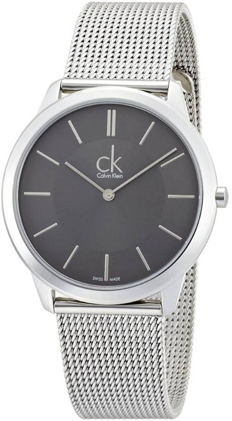 428c1d3e954 Calvin Klein Grey1825 Calvin Klein ck Minimal Mesh Mens Watch K3M21124 Watch  - For Men - Buy Calvin Klein Grey1825 Calvin Klein ck Minimal Mesh Mens  Watch ...