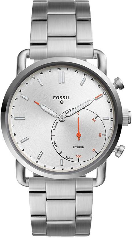 Fossil Silver3985 Fossil Hybrid Smartwatch Q Commuter Stainless
