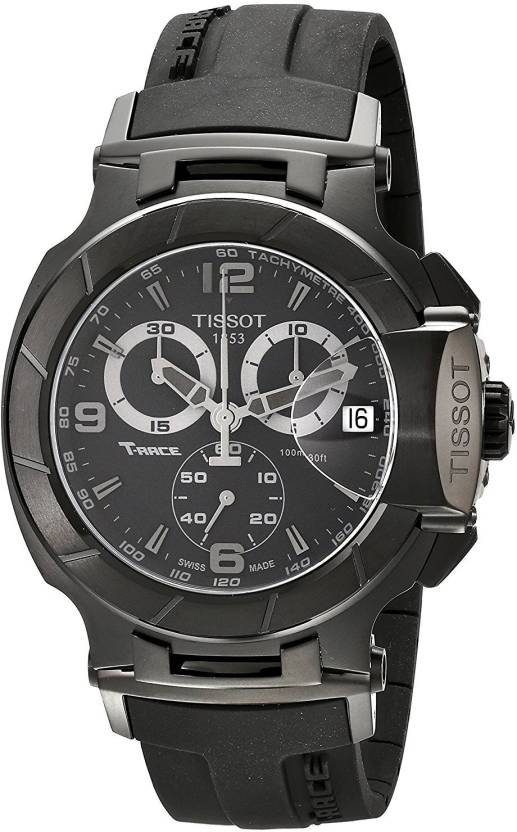 c5243034f Tissot Black 4408 Tissot Men's T0484173705700 T-Race Stainless Steel Black  Watch with Rubber Strap Watch - For Men - Buy Tissot Black 4408 Tissot  Men's ...