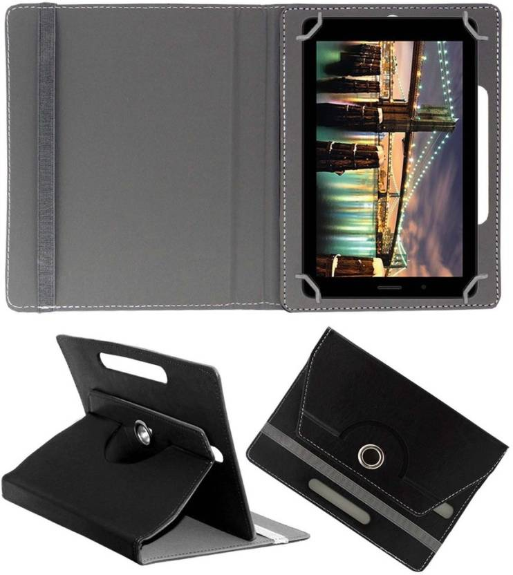 ACM Book Cover for Micromax Canvas Tab P70221 Black
