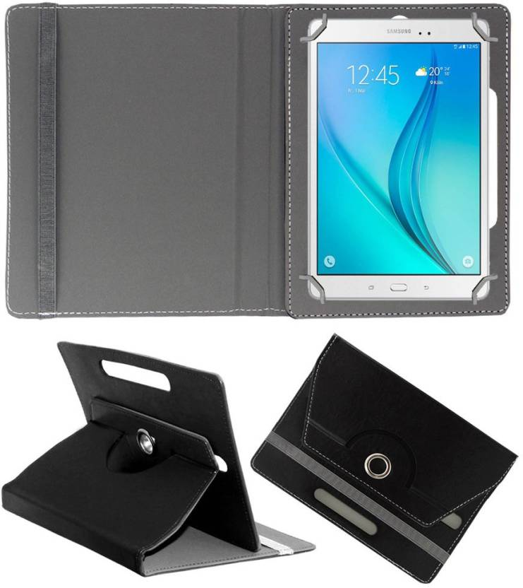 ACM Book Cover for Samsung Galaxy Tab A T355 Black ACM Plain Cases   Covers