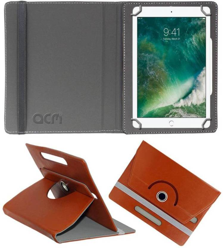 ACM Book Cover for Apple Ipad 2017 9.7 Brown, Cases with Holder