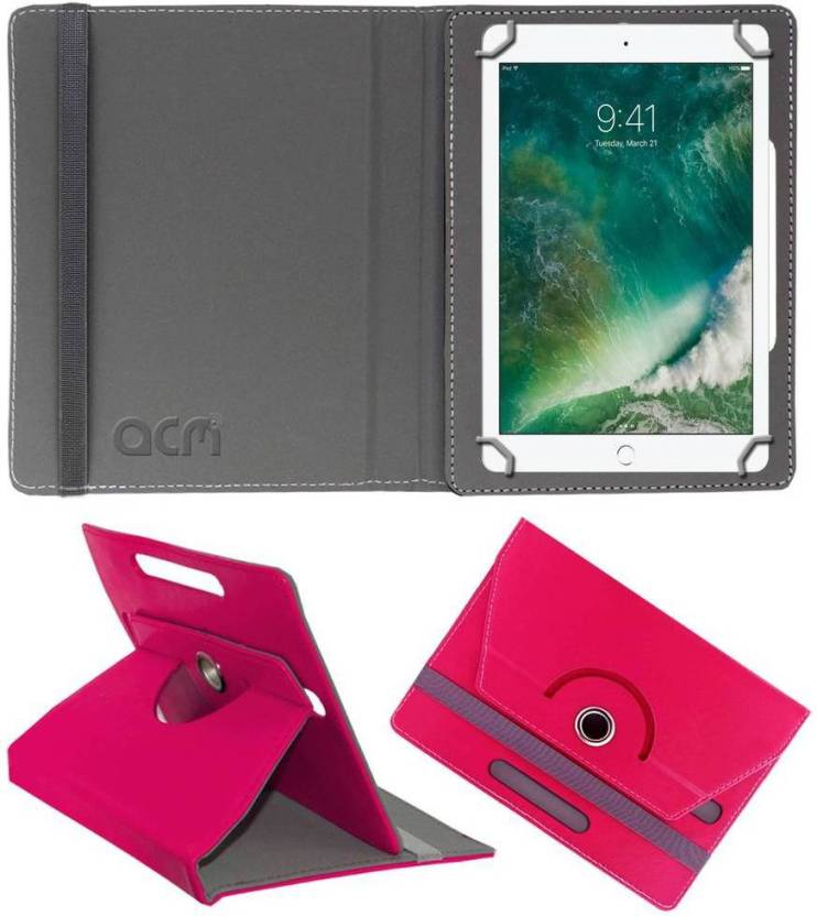 ACM Book Cover for Apple iPad 9.7 inch Dark Pink, Cases with Holder