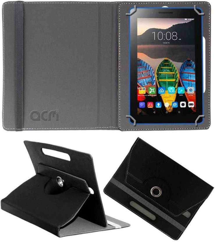 ACM Book Cover for Lenovo Tab3 8 Black, Cases with Holder