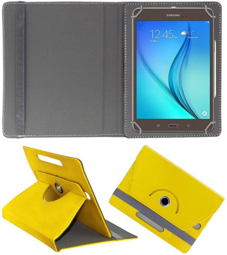ACM Book Cover for Samsung Galaxy Tab A T355y Yellow ACM Cases   Covers
