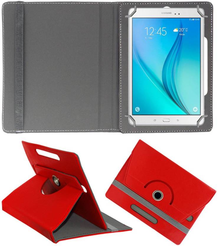 ACM Book Cover for Samsung Galaxy Tab A T355 Red