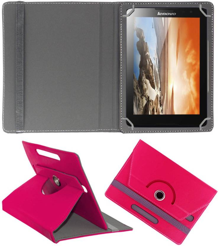 ACM Flip Cover for Lenovo Tab A8 50 Pink, Cases with Holder