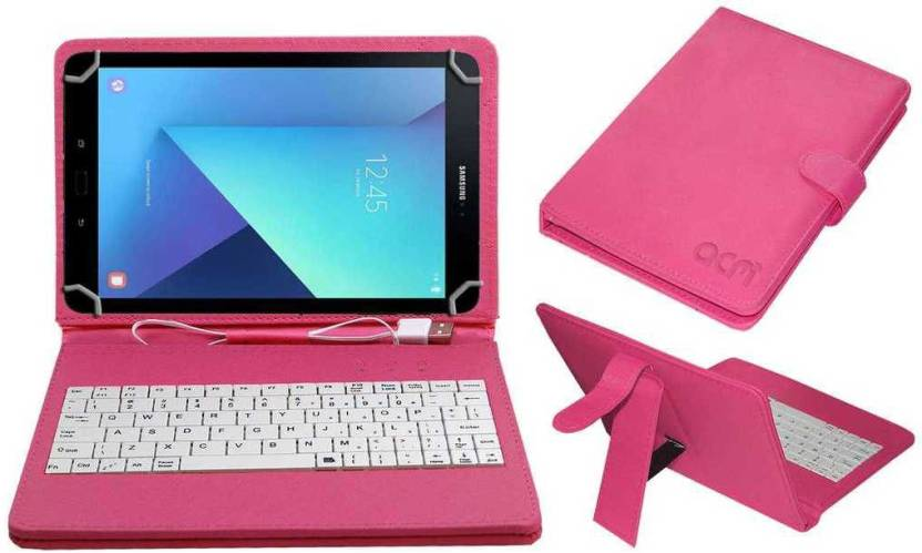 d768ca0cb00 ACM Keyboard Case for Samsung Galaxy Tab S3 9.7 (Pink, Cases with Holder,  Artificial Leather)