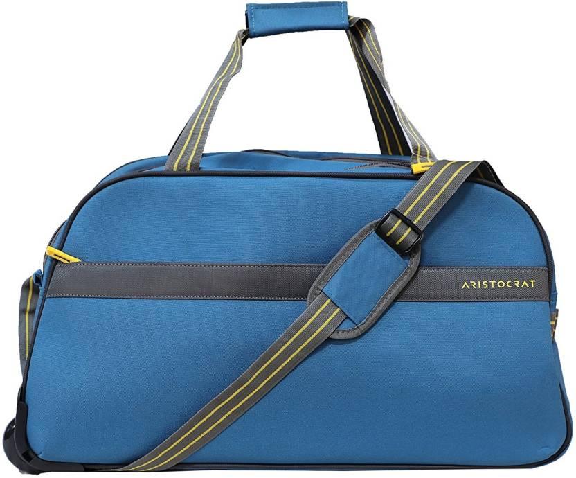 d4c47d2239d9 Aristocrat DFTDRH55 Duffel Strolley Bag Blue - Price in India ...