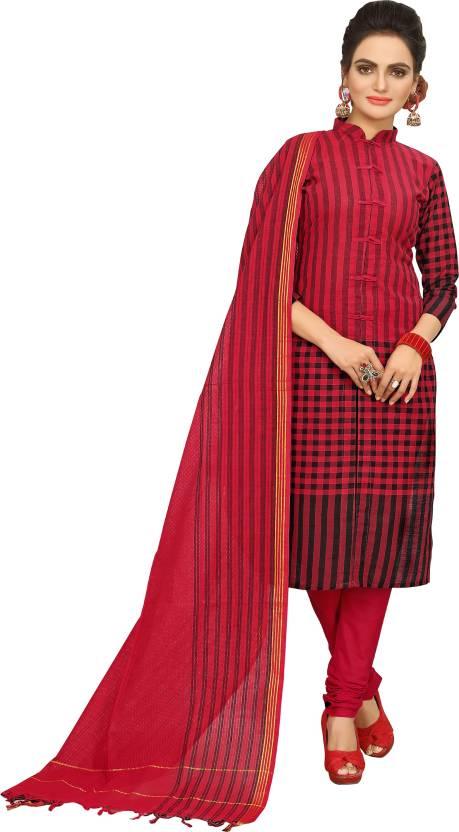 506c3a8dee minu Cotton Printed Salwar Suit Dupatta Material Price in India ...