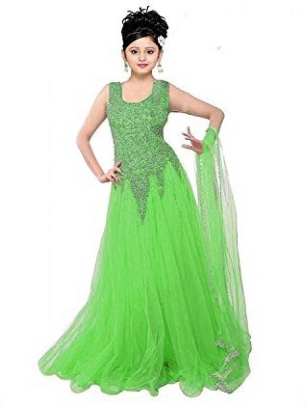 8807b1898f7 MF Retail Girls Maxi Full Length Casual Dress (Green