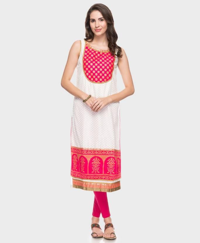 0250f9eb616 FBB - Srishti Women Printed A-line Kurta - Buy FBB - Srishti Women ...