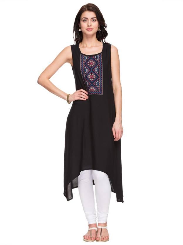 64839805410b1 FBB - Srishti Women Embroidered Trail Cut Kurta - Buy FBB - Srishti ...