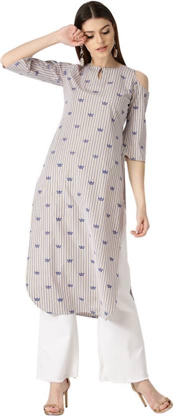 d955b90de99 Libas Women s Striped Pathani Kurta - Buy Multicolor Libas Women s ...