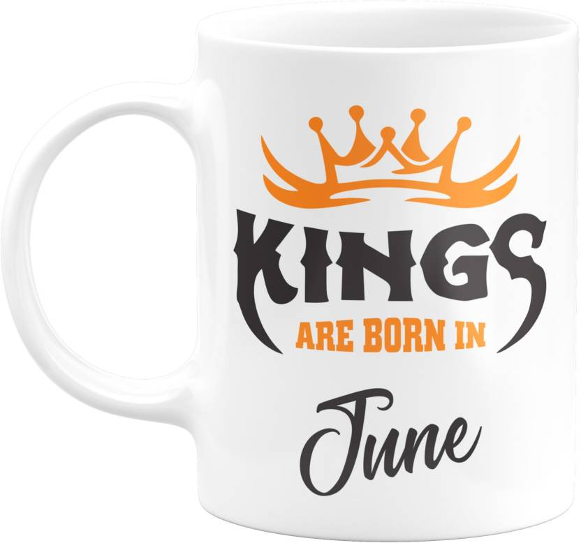 Eagletail India Kings Are Born In June Ceramic Coffee Birthday Gifts For Boys Men Father Mug 350 Ml