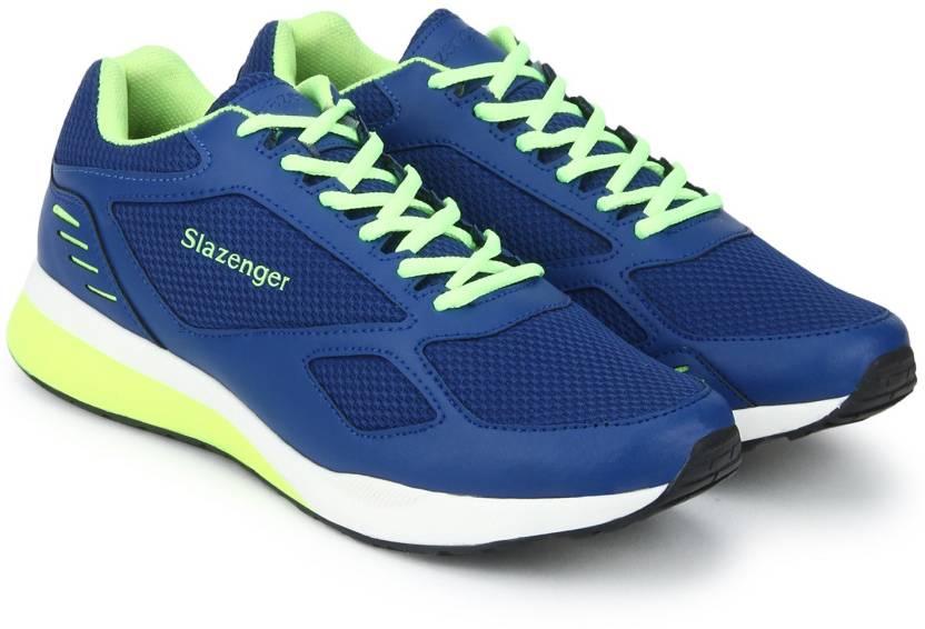 aae782f10be Slazenger Plutus Running Shoes For Men - Buy Blue,Lime Color ...