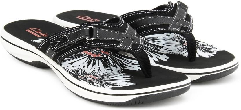 792151de18b4 Clarks Brinkley Sea Black Flip Flops - Buy BLACK Color Clarks ...