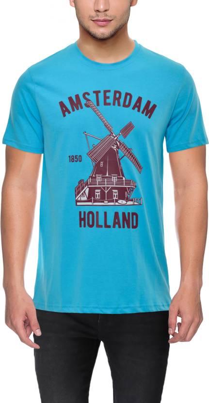 f629540adf3cb2 The Upmarket Store Printed Men Round Neck Light Blue T-Shirt - Buy ...