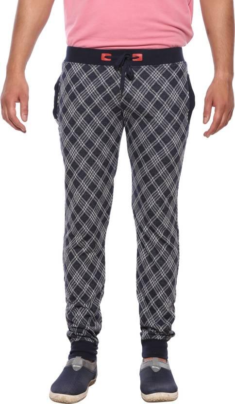 9afe0fc48d XN REPLAY Checkered Men Blue Track Pants - Buy XN REPLAY Checkered ...
