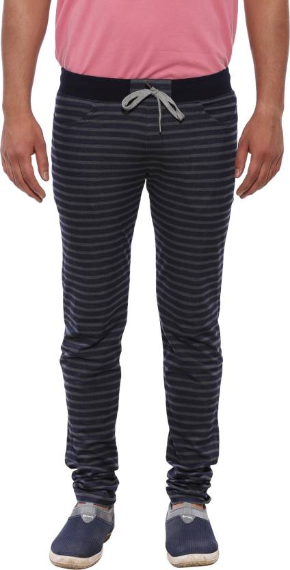 c554f6a629 XN REPLAY Striped Men Blue Track Pants - Buy XN REPLAY Striped Men ...