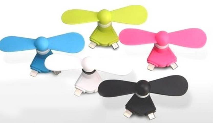 Gadget Deals Mini Portable 3 in 1 Mobile Fan (Colors may