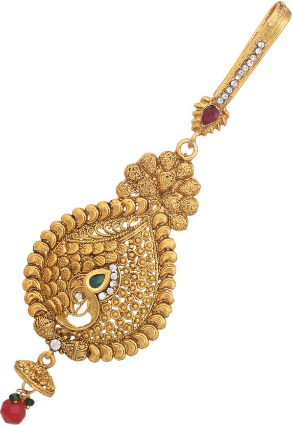 DzineTrendz Brass Gold plated, heritage Big and Bold pear