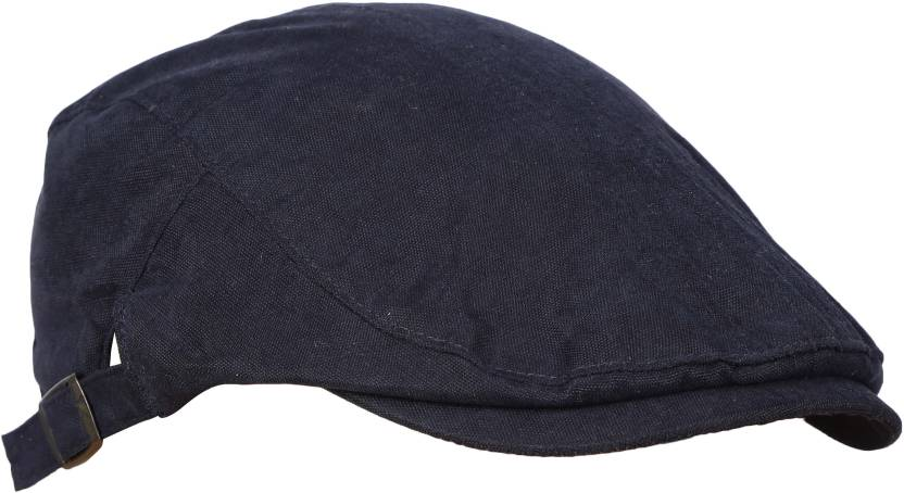 FabSeasons Black Premium Cotton Golf Flat Cap with adjustable size strap Cap  - Buy FabSeasons Black Premium Cotton Golf Flat Cap with adjustable size  strap ... 51fe6d31f75