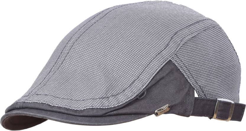 FabSeasons Beige 100% Cotton Golf Flat Cap with adjustable size strap Cap -  Buy FabSeasons Beige 100% Cotton Golf Flat Cap with adjustable size strap  Cap ... 2b7c5853d48