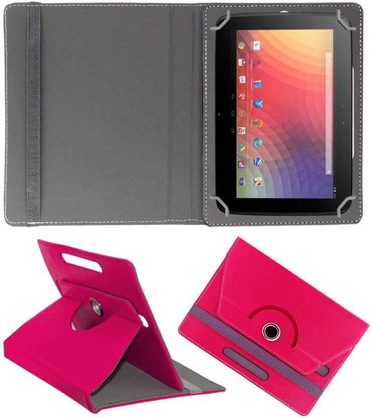 ACM Flip Cover for Samsung Google Nexus 10 Dark Pink, Cases with Holder
