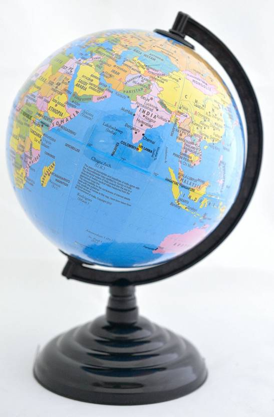 Shrih World Political Map Globe 885 Desk and Table Top Political ...