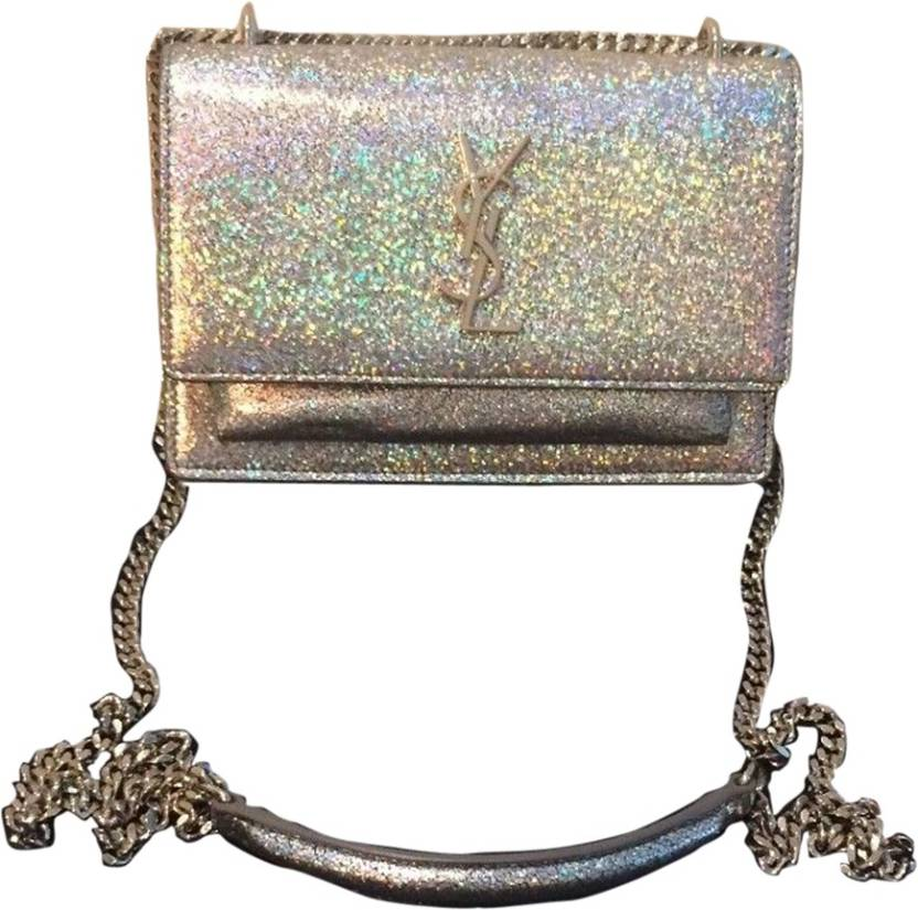Buy Yves Saint Laurent Sling Bag Silver Online   Best Price in India ... a2f1e7ad98c45