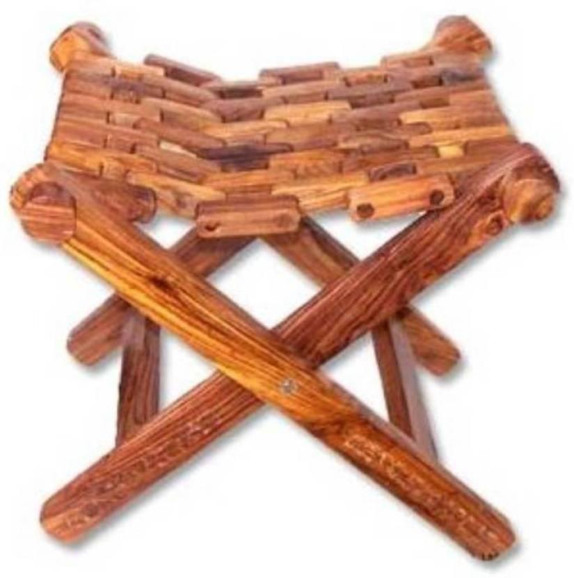 Huzain Handicrafts Wooden Stool Living Bedroom Stool Price In