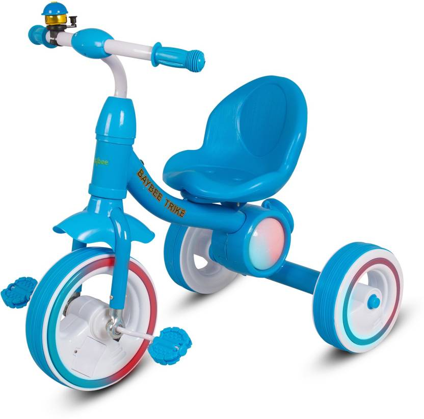 55d0fdd3e26 Baybee Lagoona Lightweight Convertible Kids tricycle Learn to Ride Trike  with 3D Flash Light & Music | Suitable For Boys & Girls - Green BBTBW-185_B  ...