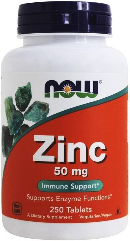 Now Foods Zinc 50mg 250 Tablets Price In India Buy Now Foods Zinc